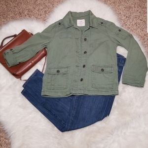 American Eagle- sz. M, army green, jacket, olive